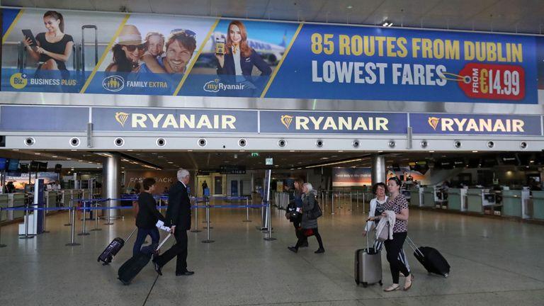 Ryanair signage at Dublin Airport