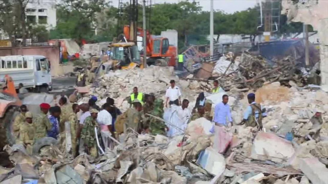 Mogadishu vehicle bomb, hotel siege leave 23 dead in Somalia