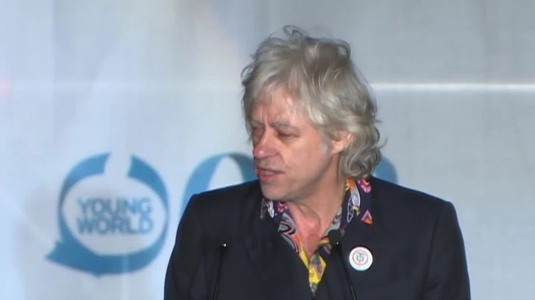 Bob Geldof is 'sick of world leaders'.