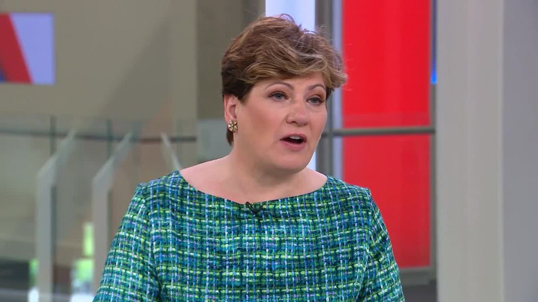 Emily Thornberry says Theresa May should resign