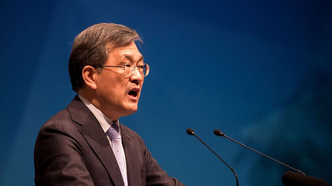 Kwon Oh-Hyun, co-vice chairman and co-chief executive officer of Samsung Electronics Co