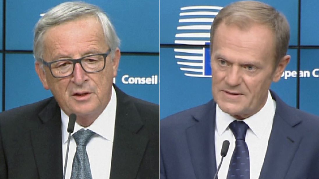 Jean-Claude Juncker and Donald Tusk