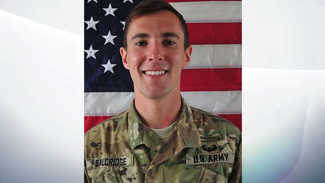 Dillon Baldridge - US soldier pic: US Army