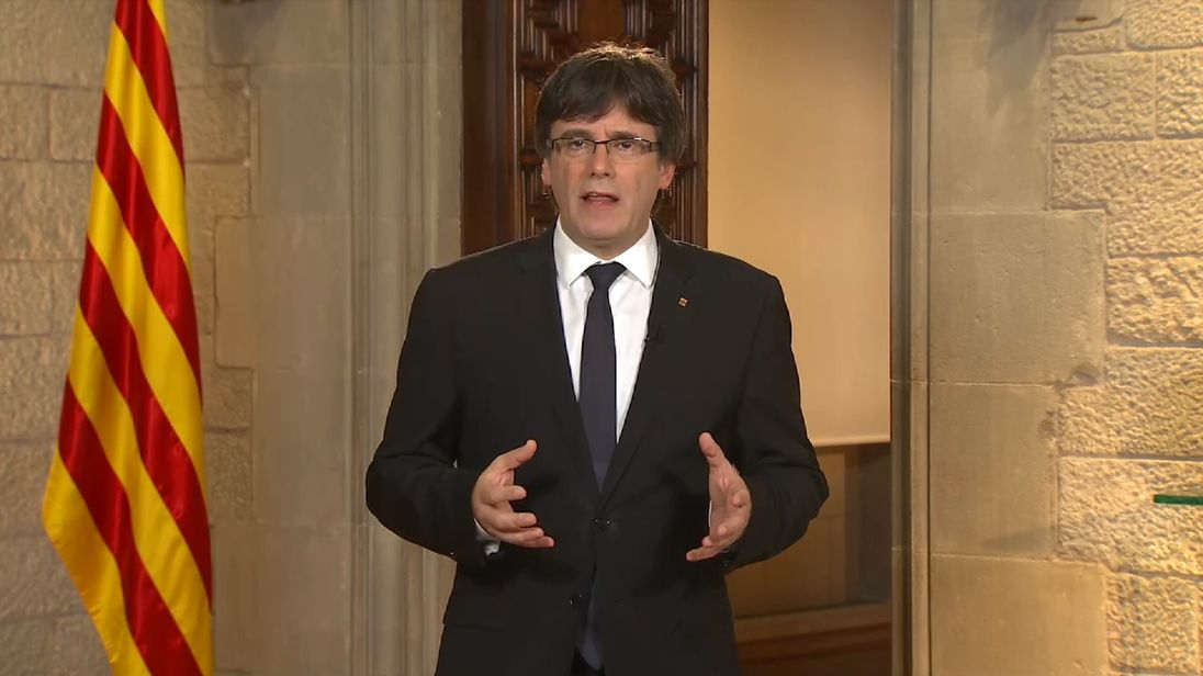 Catalan's leader said his government will carry out the 'will of the people'