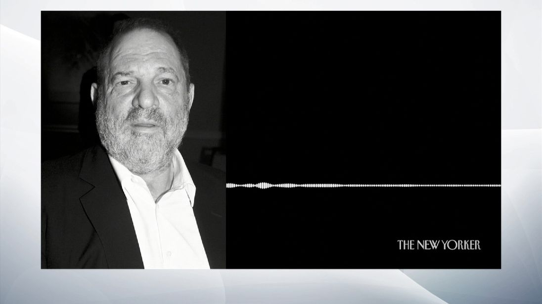 The New Yorker has released a copy of an audio recording  which was reportedly made at the entrance to Harvey Weinstein's hotel room