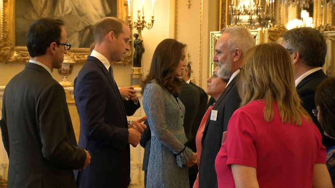 Duchess of Cambridge appears in public after announcing pregnancy last month