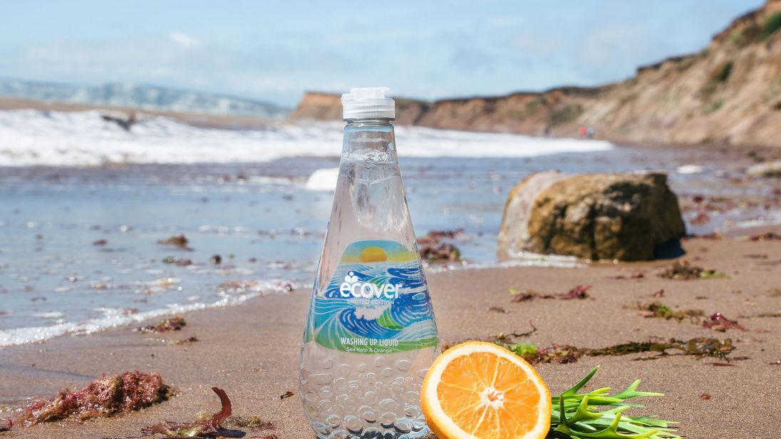 Ecover undated handout photo of their Ocean Bottle which is to be made with 50% ocean plastic, collected from the beaches of Rio de Janeiro. The bottle aims to raise awareness of the growing problem of plastics in our oceans. Photo credit should read: Ecover/PA Wire