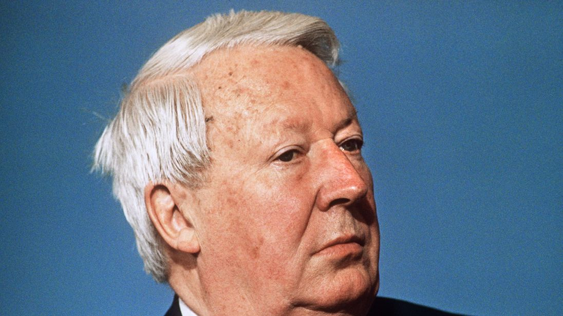 Former prime minister Sir Edward Heath died in 2005