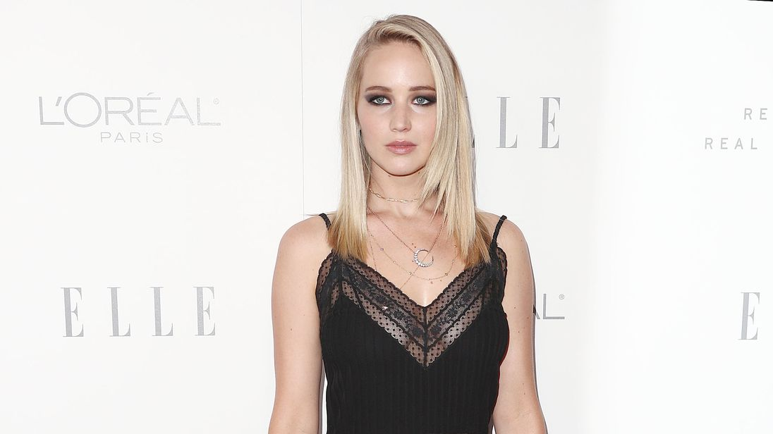 Jennifer Lawrence attending the Elle: Women in Hollywood awards
