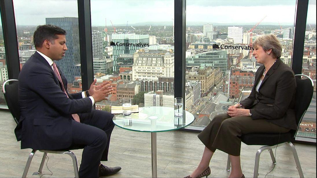 Faisal Islam and Theresa May