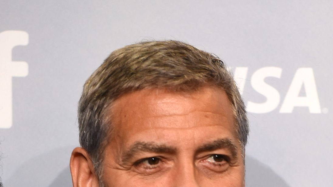 George Clooney's motorbike crash caught on surveillance footage
