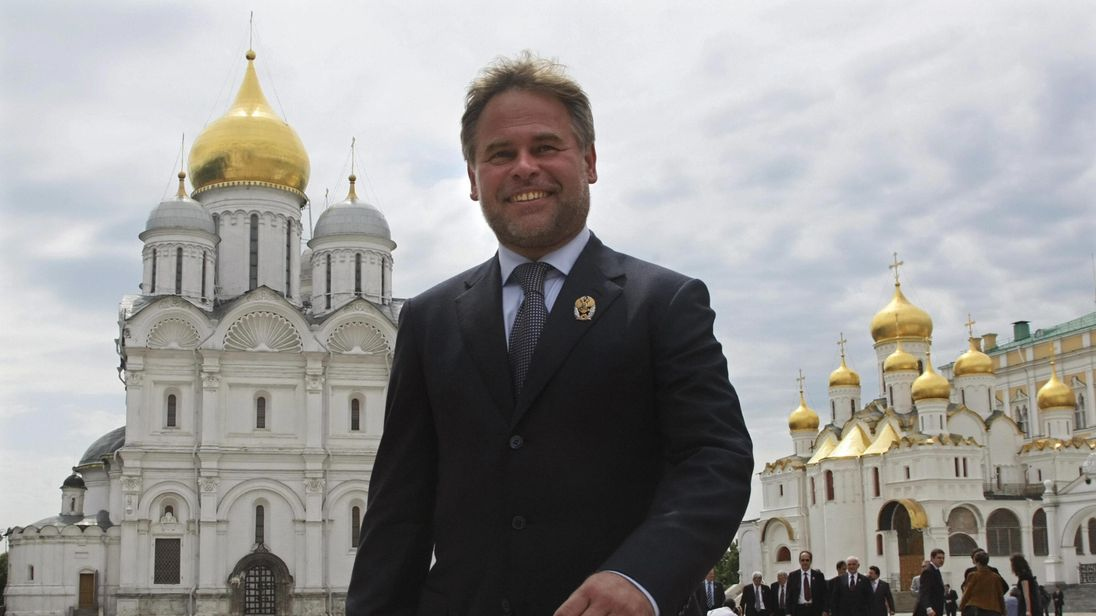 Eugene Kaspersky leaving the Kremlin in Moscow on June 12, 2009