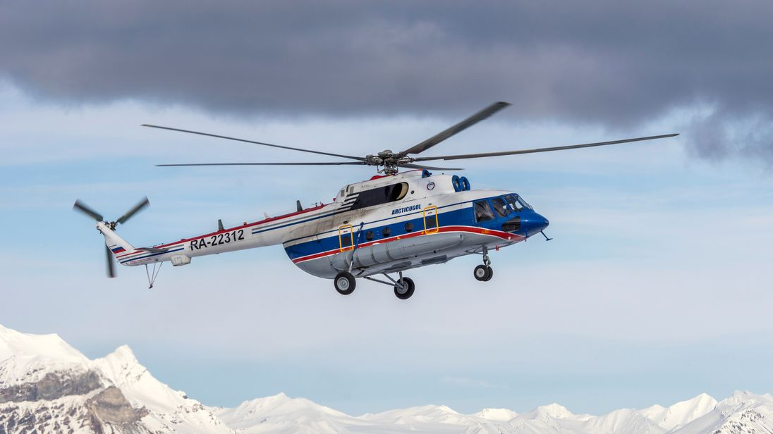 The missing helicopter seen in Barentsburg in 2015