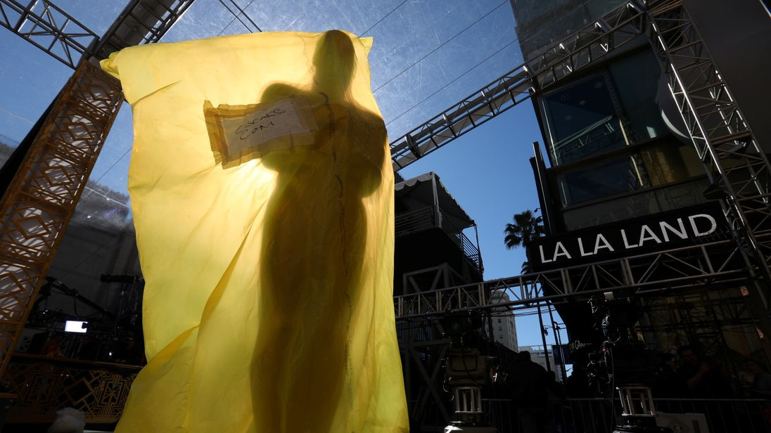 Preparations for the 89th Academy Awards in Hollywood, California