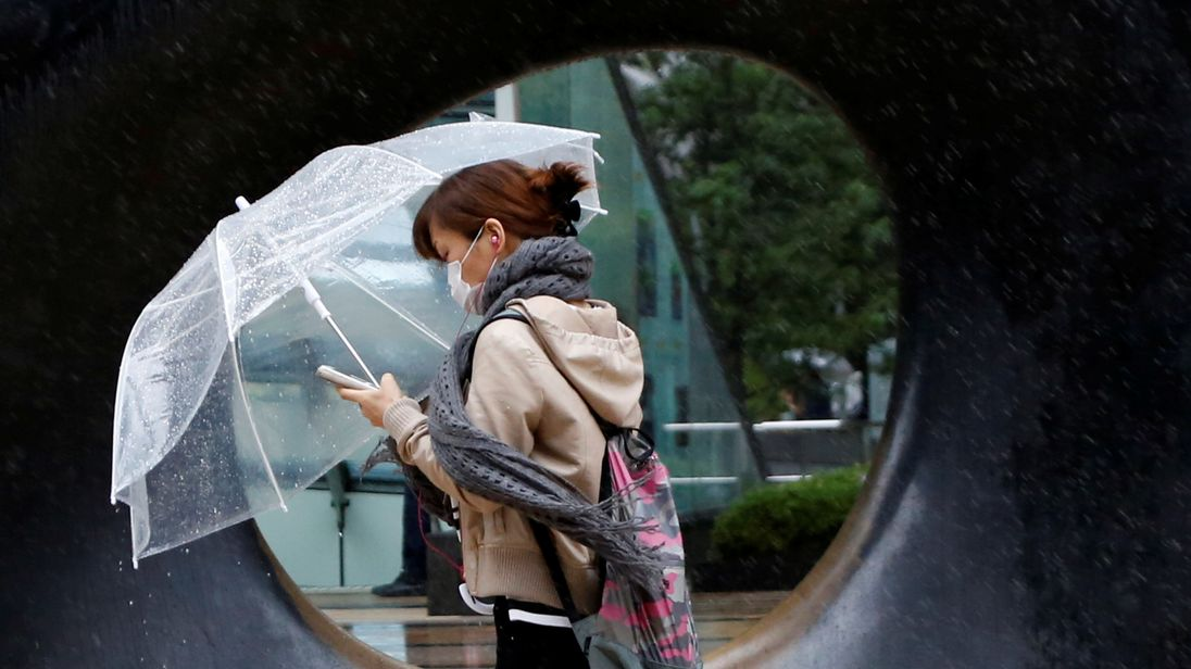 Typhoon Lan is not making it easy for the Japanese electorate to cast their vote
