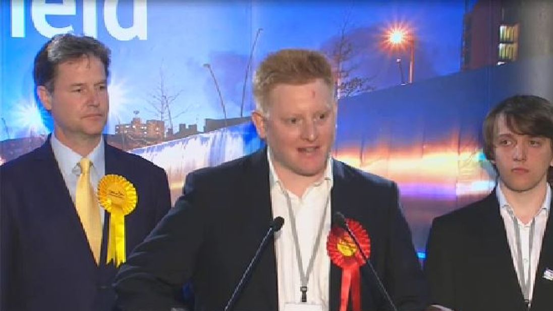 Jared O'Mara beat former deputy prime minister Nick Clegg in the June election