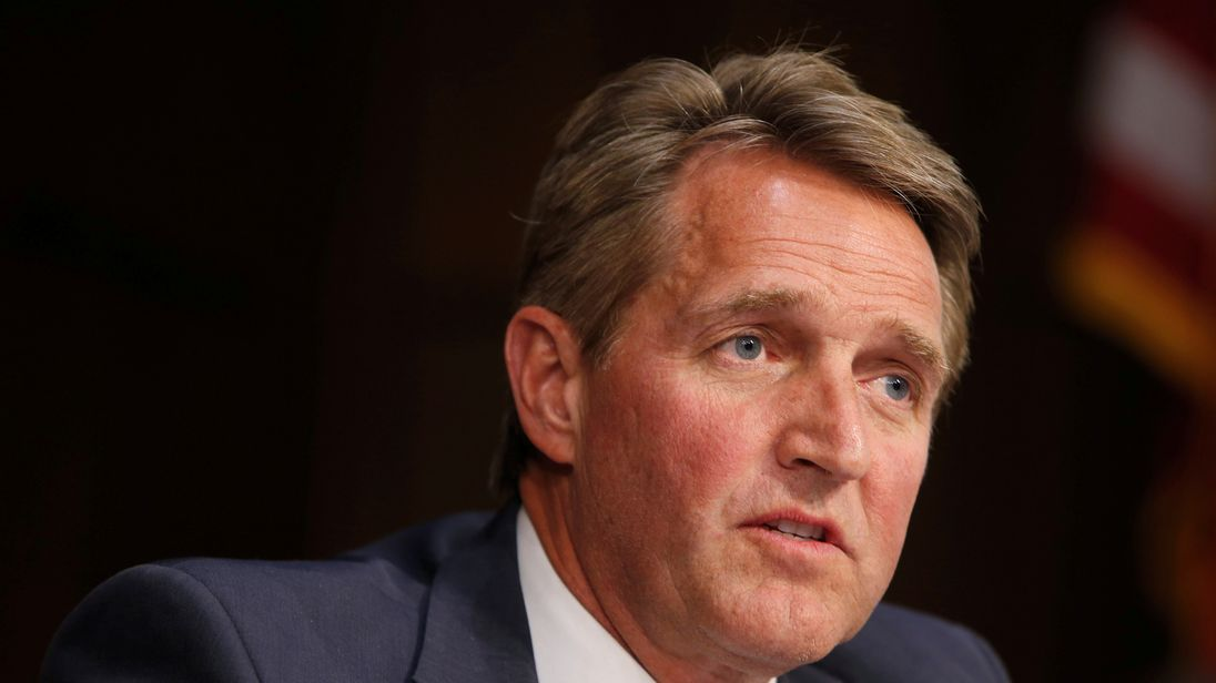 Republican Jeff Flake delivers a cutting address, picking apart the Trump presidency
