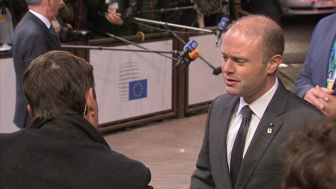 Malta's Prime Minister Joseph Muscat arrives for talks in Brussels