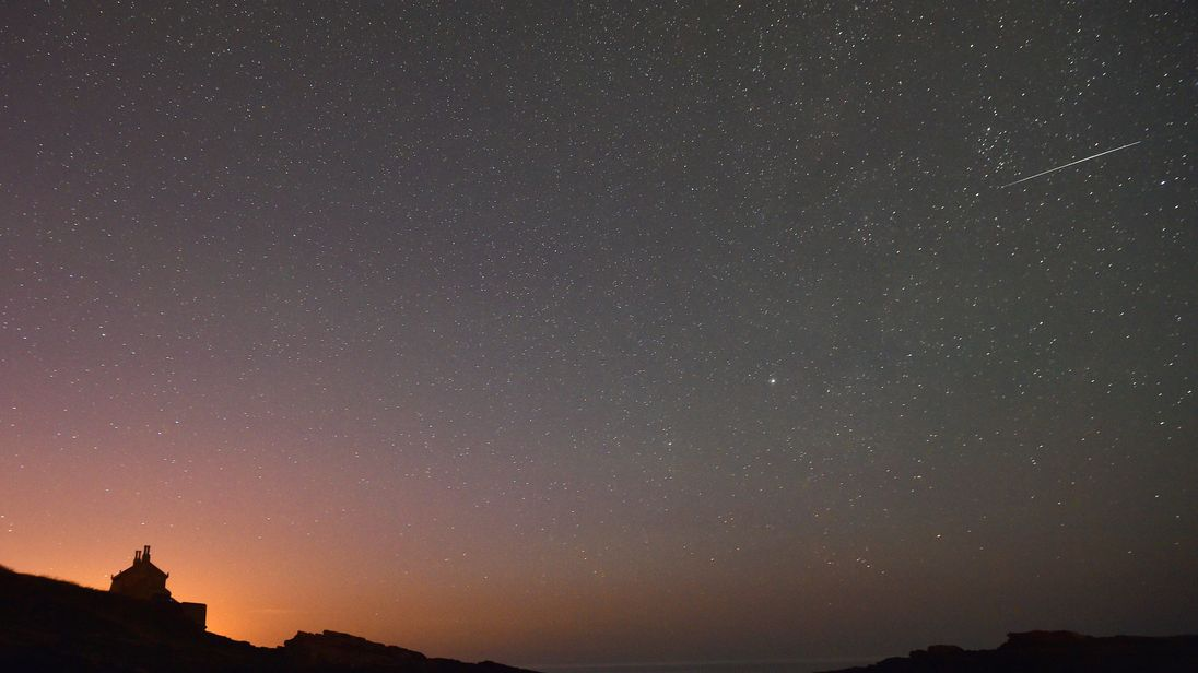 shooting stars to zip across the sky as earth moves through comet