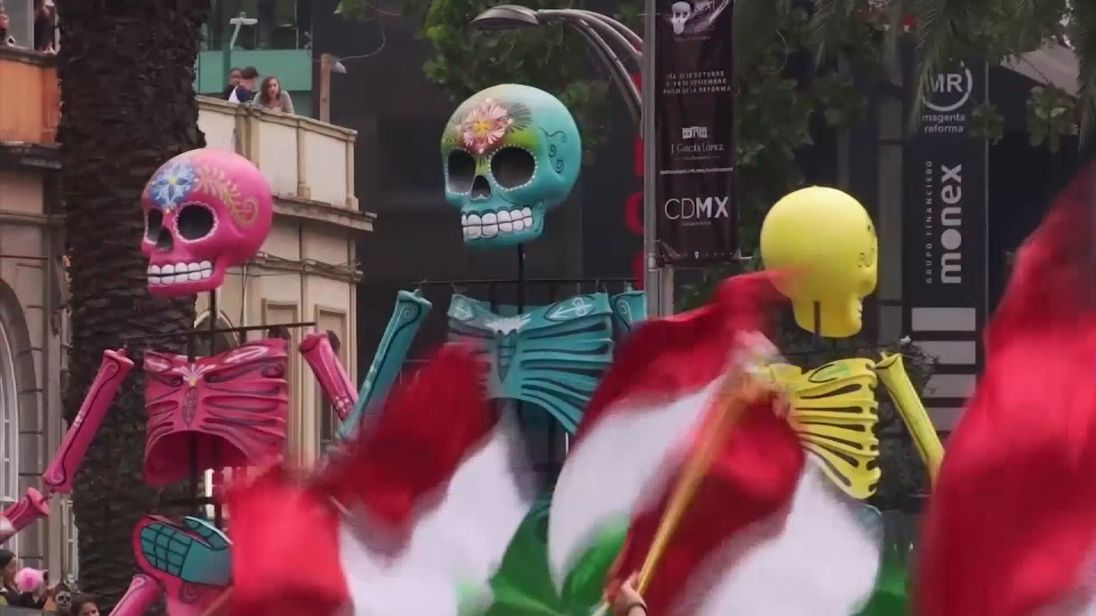Mexico City's day of the dead parade