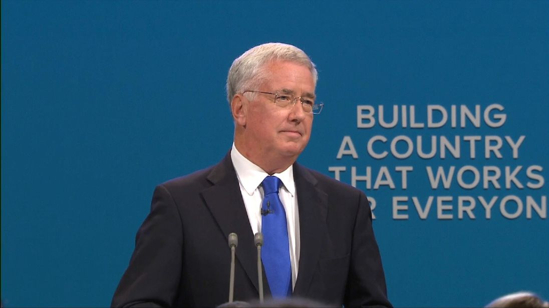 UK Defence Secretary Sir Michael Fallon