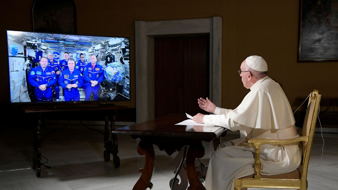 Pope Francis speaks to ISS astronauts