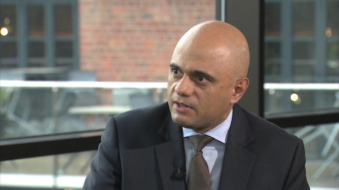 Sajid Javid says he backs Theresa May's leadership