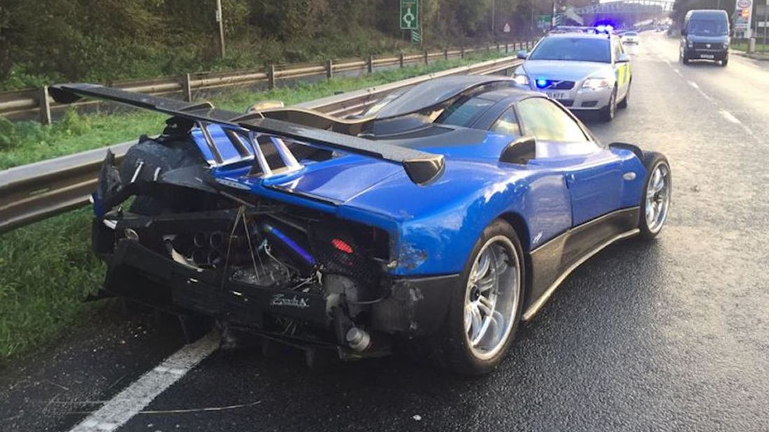 'One-off' $1.9 million supercar badly damaged in United Kingdom crash