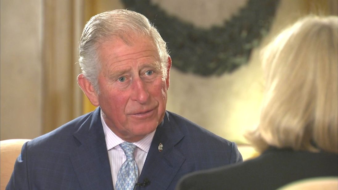 Prince Charles talks to Sky's Anna Botting in Malta