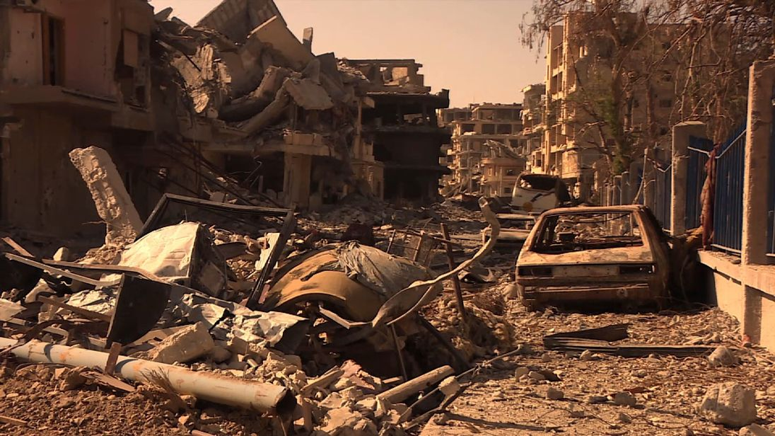The mangled aftermath of war in Raqqa