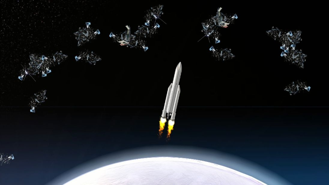 Space debris is being looked into by the military