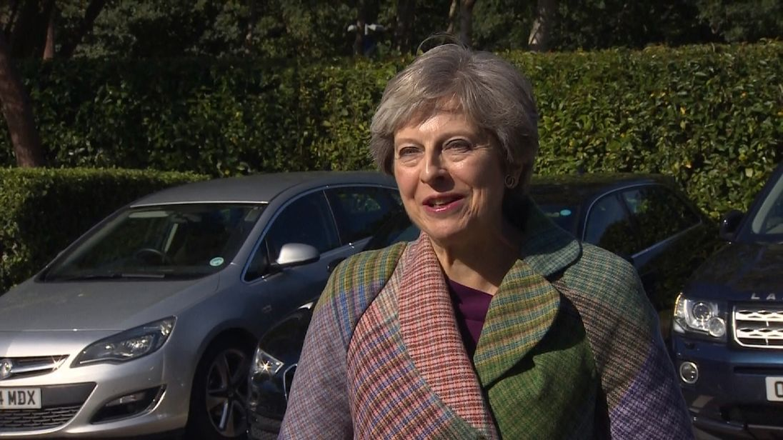 The Prime Minister said she was providing calm leadership with the 'full support of my Cabinet'
