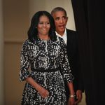 CHICAGO, IL - MAY 03: Former President Barack Obama and his wife Michelle arrive for a roundtable contention at the South Shore Cultural Center about the Obama Presidential Center, which is scheduled to be built in circuitously Jackson Park, on May 3, 2017 in Chicago, Illinois. The Presidential Center settlement envisions 3 buildings, a museum, library and forum. (Photo by Scott Olson/Getty Images)