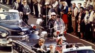 John F Kennedy in Dallas before his assassination