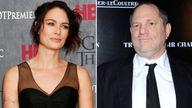 Lena Headey and Harvey Weinstein
