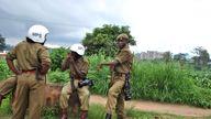 Police in Blantyre. File pic