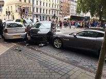 Crash collided at scene. Pic: Stefano Sutter