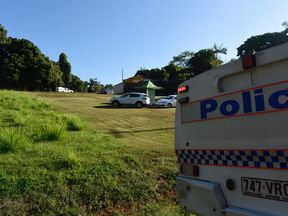 Police at the scene. Pic: Chris Holmes, Innisfail Advocate