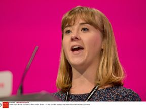 Bex Bailey speaking at the Labour Party conference in 2014