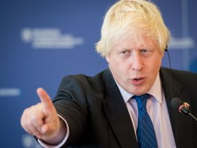 Britain's Foreign Minister Boris Johnson has reopened political wounds ahead of the Conservative conference