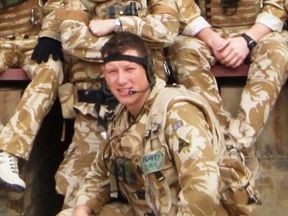 Chris Butcher had served as a captain in the army (pic: family handout)