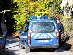 Police arrive at the farmhouse