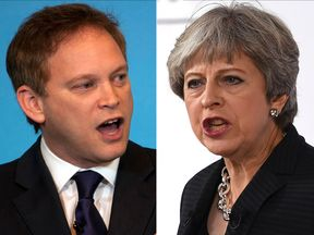 Grant Shapps and Theresa May