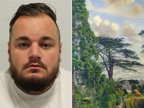 The stolen £1m Cookham from Englefield painting was found in Harry Fisher's flat in Richmond