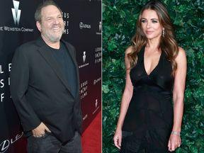 Harvey Weinstein and Elizabeth Hurley