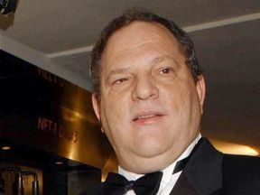 Harvey Weinstein with his BFI Fellowship Award for outstanding contribution to cinema in 2002