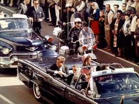 John F Kennedy in Dallas before his assassination