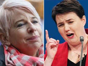 Katie Hopkins and Ruth Davidson