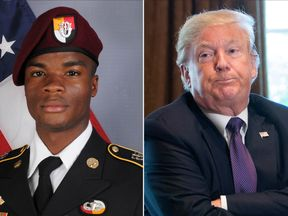 Mr Trump reportedly told Sgt Johnson's widow that the soldier 'knew what he signed up for'