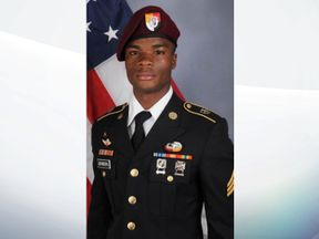 Sgt La David Johnson, 25, was a US Special Forces soldier killed in Niger. Pic: Army handout